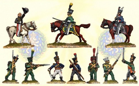 28mm Napoleonic Netherlands and Nassau mixed group / painted by Ian Stables
