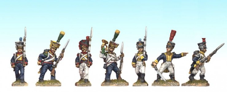 28mm Napoleonic Polish group / painted by Ian Stables