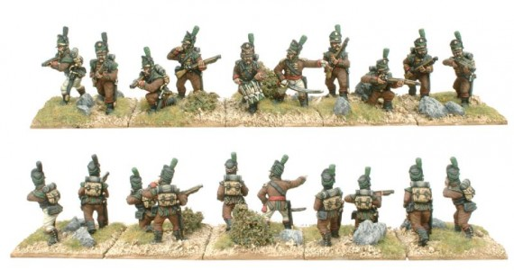 28mm Napoleonic Portuguese Cacadores / painted by Kevin Dallimore