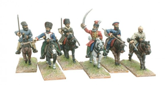 28mm Napoleonic Russian Cossacks / painted by Bill Thornhill