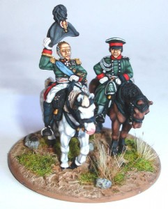 28mm Napoleonic Russian - Barclay de Tolly (RNP6) and Officer (RN55) / painted by El Mercenario