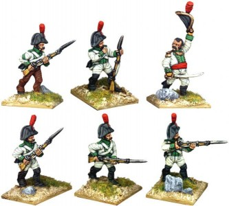 28mm Napoleonic Spanish Line Infantry painted by Kevin Dallimore
