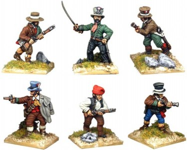 28mm Napoleonic Spanish Guerillas / painted by Kevin Dallimore.