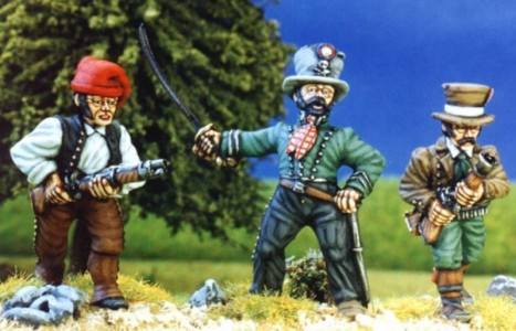 28mm Napoleonic Spanish Guerillas painted by Kevin Dallimore