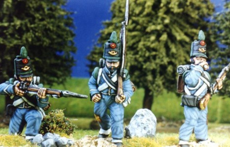 28mm Napoleonic Spanish Cazadores post 1812 painted by Kevin Dallimore