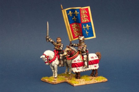 28mm Henry V and Standard Bearer / painted by Steve Bowerman