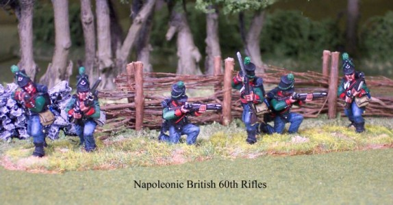 28mm Napoleonic British 60th Rifles