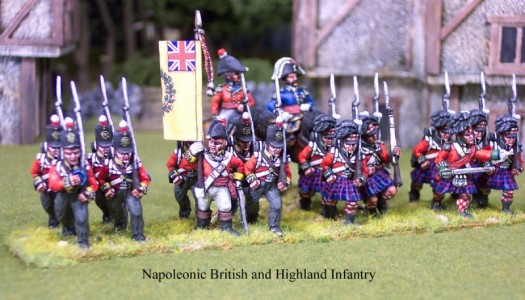 28mm Napoleonic British and Highland Infantry
