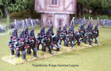 28mm Napoleonic British Riflemen / painted as Kings German Legion