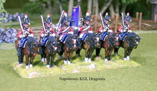 28mm Napoleonic British Dragoons / painted as Kings German Legion