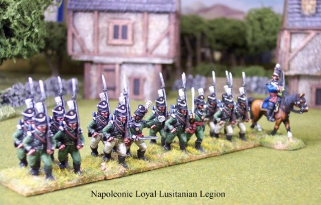 28mm Napoleonic Portuguese / painted as Loyal Lusitanian Legion