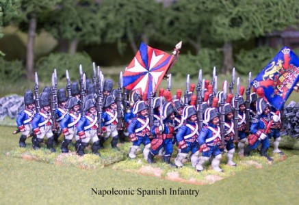 28mm Napoleonic Spanish Infantry / painted by Kevin Dalimore