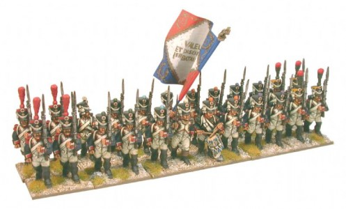 28mm Napoleonic French Line Infantry, full dress / painted by Brush Strokes