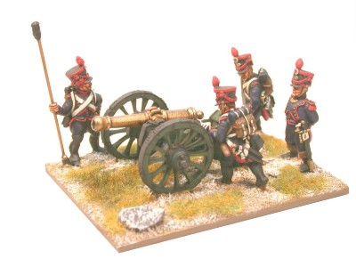 28mm Napoleonic French Artillery / painted by Brush Strokes