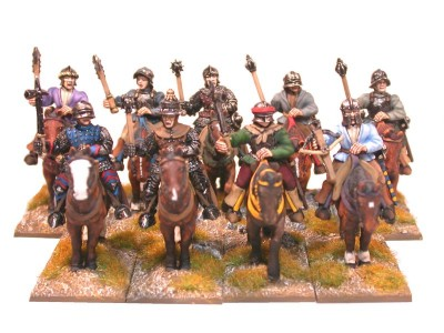 28mm Wars of the Roses Light Cavalry /  painted by Brush Strokes