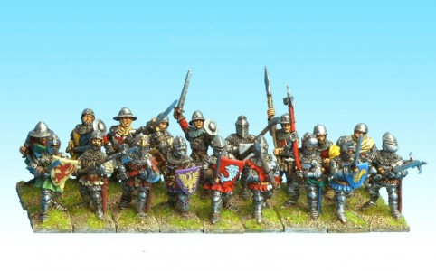 28mm Hundred Years War Infantry / Dismounted Men at Arms and Infantry