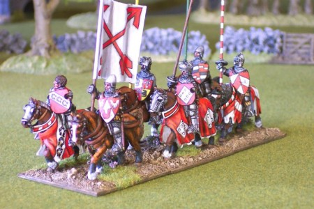 28mm Hundred Years War Knights - side view