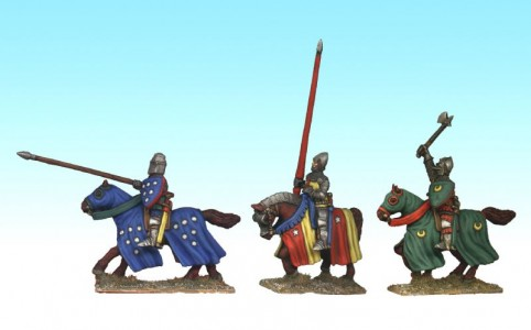 28mm Hundred Years War Mounted men at Arms / painted by Ian Stables