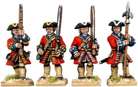 28mm WSS British Foot Guards (front view) / painted by Kevin Dallimore