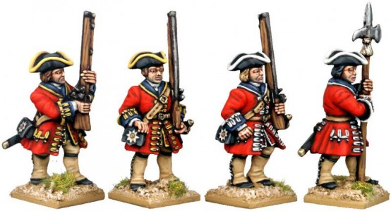 28mm WSS British Foot Guards (side view) / painted by Kevin Dallimore