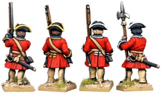 28mm WSS British Foot Guards (back view) / painted by Kevin Dallimore