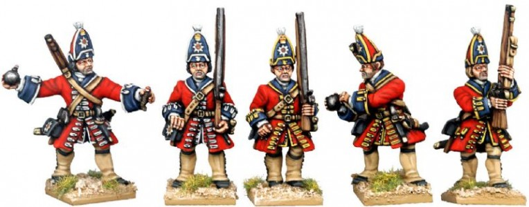 28mm WSS British Foot Guard Grenadiers (front view) / painted by Kevin Dallimore