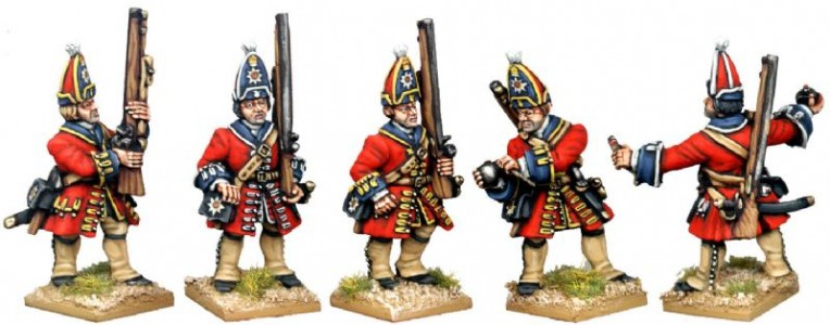 28mm WSS British Foot Guard Grenadiers (side view) / painted by Kevin Dallimore