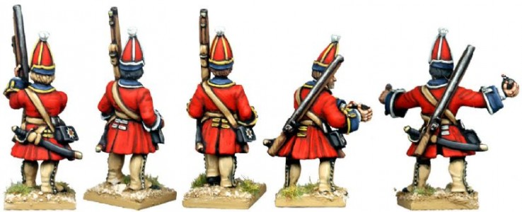 28mm WSS British Foot Guard Grenadiers (back view) / painted by Kevin Dallimore
