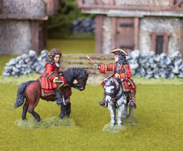 28mm WSS Duke of Marlbourgh & Lord Cutts (BSP1/BSP5) / painted by Ian Stables