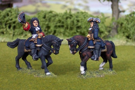28mm WSS Marshall Villars & General (FSP3/HV10B + FSP5/HV2B) / painted by Ian Stables.
