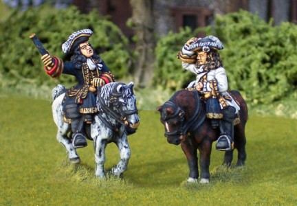 28mm WSS Marshall Vendome & Tallard (FSP4/HV3B + FSP2/HV1A) / painted by Ian Stables
