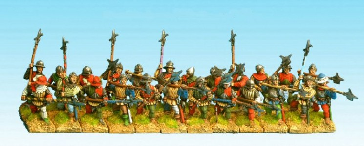 28mm Wars of the Roses Billmen and Halberdiers