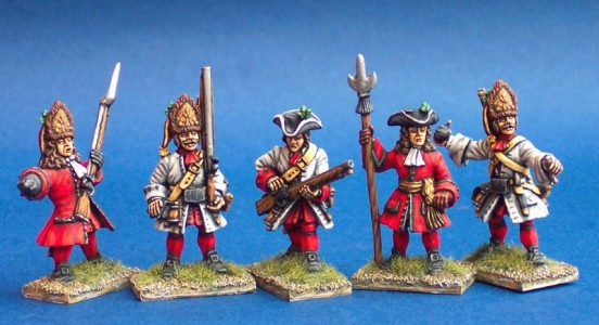 28mm WSS Austrian Infantry (AS13, 3, SS9, AS10, 5) / painted by Ian Stables