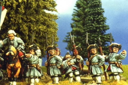 28mm SYW French Infantry - Regt Picardy /painted by Kevin Dallimore