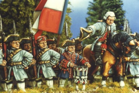 28mm SYW French Infantry - Regt Picardy / painted by Kevin Dallimore