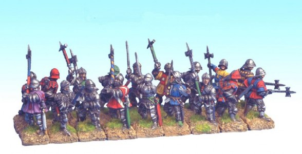 28mm Wars of the Roses Dismounted Men at Arms
