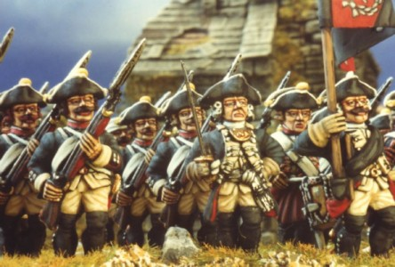 28mm SYW Prussian Musketeers / painted by Kevin Dallimore