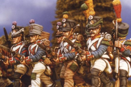 28mm Napoleonic French Line Voltigeurs / painted by Kevin Dallimore