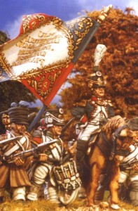 28mm Napoleonic French Line Colonel (FN282) / painted by Kevin Dallimore