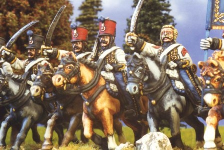 28mm Napoleonic French Hussars / painted by Kevin Dallimore