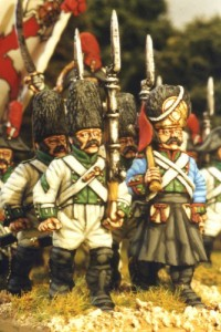 28mm Napoleonic Spanish Grenadiers and Sapper. / painted by Kevin Dallimore