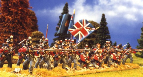 28mm Napoleonic British Infantry /  painted by Kevin Dallimore