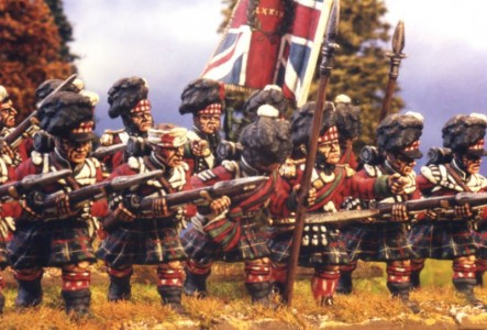 28mm Napoleonic British Highlanders / painted by Kevin Dallimore