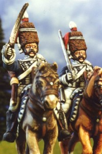 28mm Napoleonic British - Hussars / painted by Kevin Dallimore