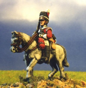 28mm Napoleonic British - Scots Greys (BNC18 + HV2A) / painted by Kevin Dallimore