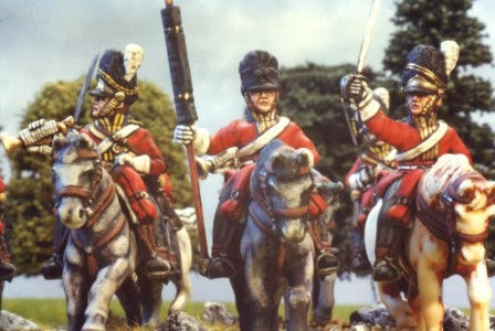 28mm Napoleonic British - Scots Greys / painted by Kevin Dallimore
