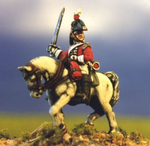 28mm Napoleonic British Heavy Cavalry (BNC5 + HV3B) / painted by Kevin Dallimore