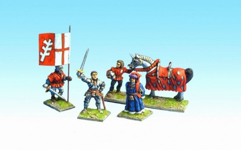 28mm Wars of the Roses Warwick the King Maker / MPK4 pack (sold unpainted)