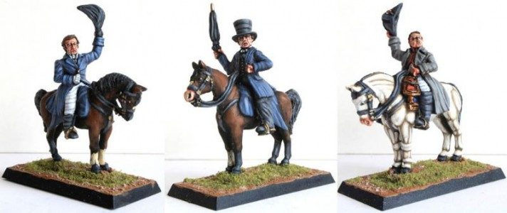 28mm Napoleonic British - Wellington (BNP1), Picton (BNP5), and Napoleon (FNP1) / painted by Billy Lummis