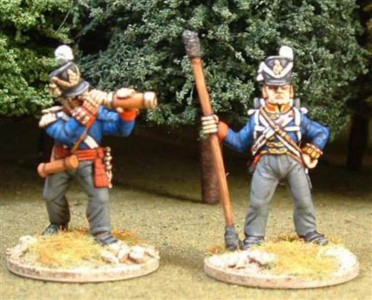 28mm Napoleonic British Artillery figures / painted by Steve Dyer